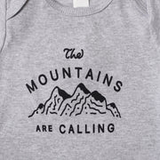 The Mountains Are Calling Onesie - Grey