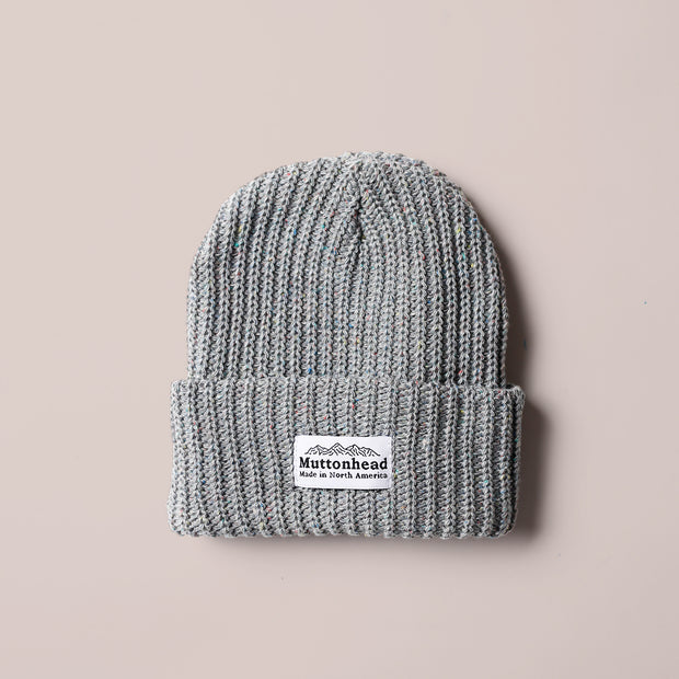 Rainbow Speckle Chunky Toque - Heather Grey