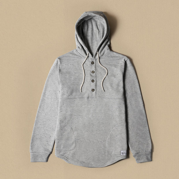 Camping Hoodie - Heather Grey Speckle
