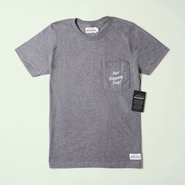 Hot Diggety Dog Pocket Tee - Heather Grey