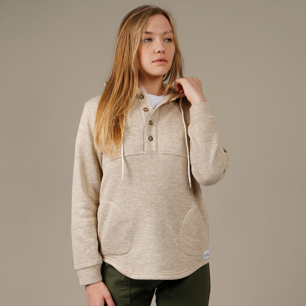 Camping Hoodie - Heather Oatmeal