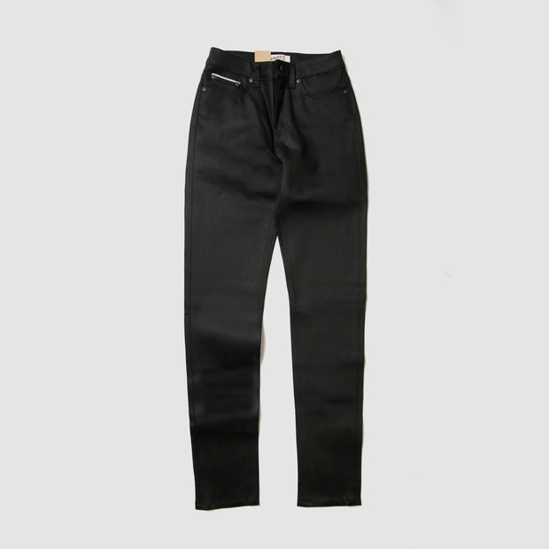 Women's High Skinny - Black Cobra Stretch Selvedge - Black