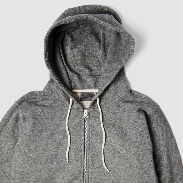 Zip Hoodie - Heavyweight Terry - Charcoal