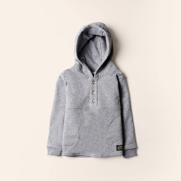 Kids Camping Hoodie - Heather Grey Rainbow Speckle