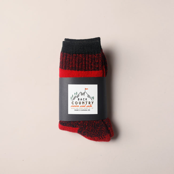 Kids Back Country Socks - Red
