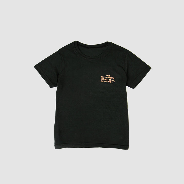 Kids Recycled Tee - Campsite - Black
