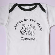 Leader of the Pack Onesie - White