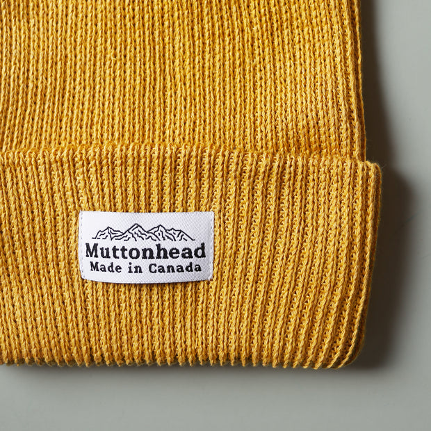 Cotton Knit Toque - Mustard