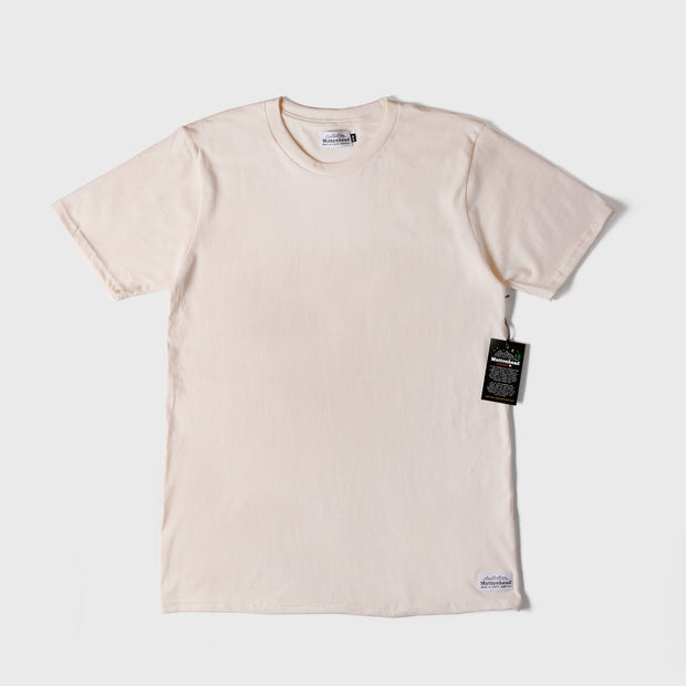 Natural Ring Spun Cotton Tee