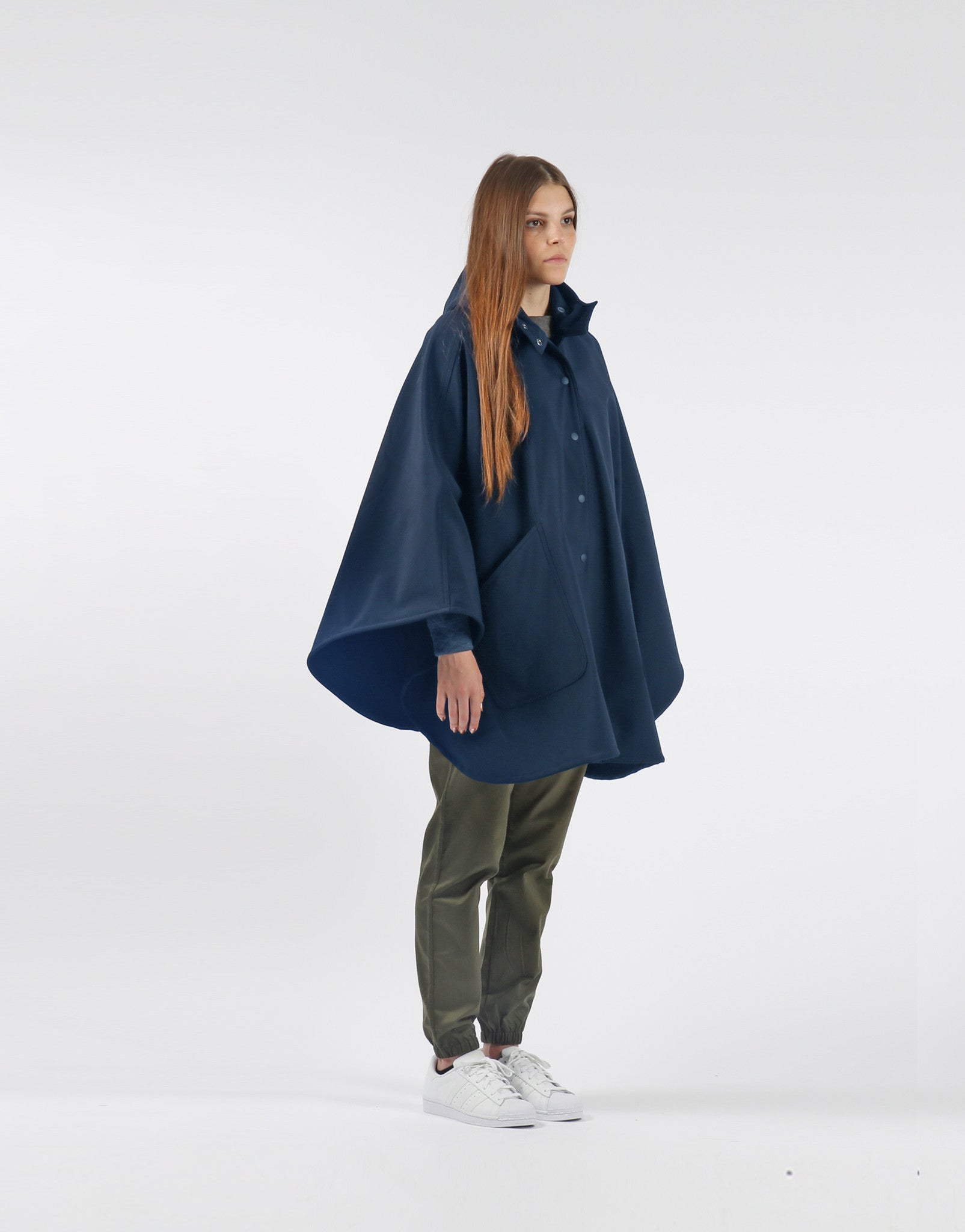 Waterproof Rain Poncho - Navy