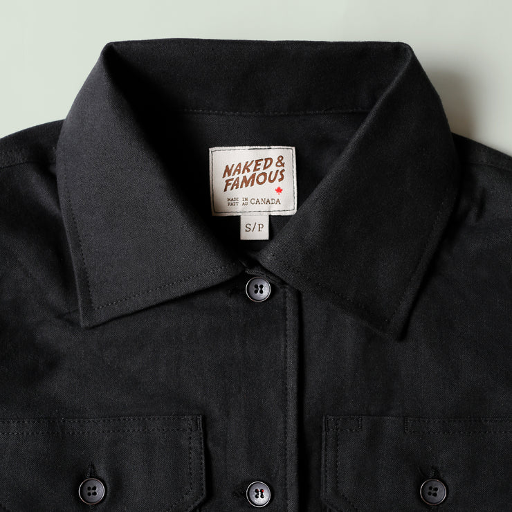 Women's Utility Shirt - Soft Flannel - Black