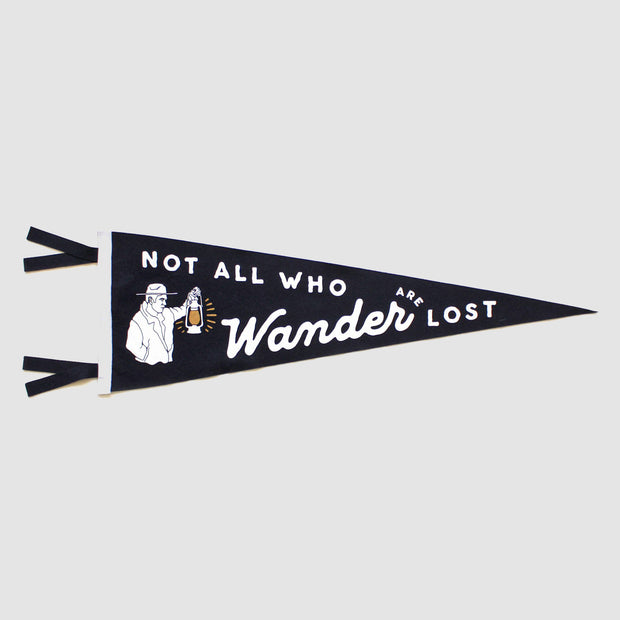 Oxford Pennant - Not All Who Wander Are Lost
