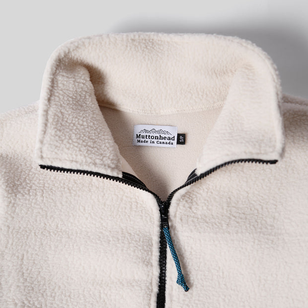 Alpine Full Zip - Oatmeal Sherpa