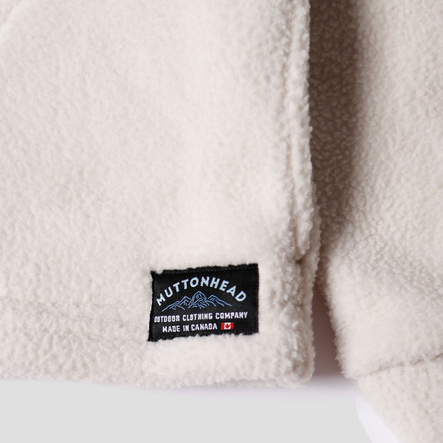 Alpine 1/4 Zip  - Oatmeal Sherpa Fleece
