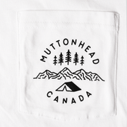 Camp Out Organic Pocket Tee - White