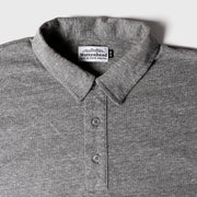 Recycled Polo Tee - Grey