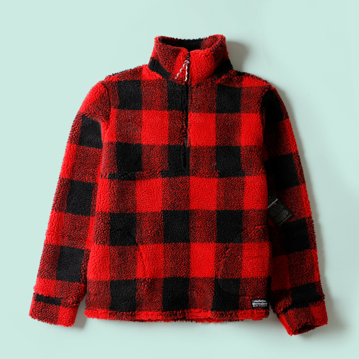 Alpine 1/4 Zip - Red Buffalo Sherpa