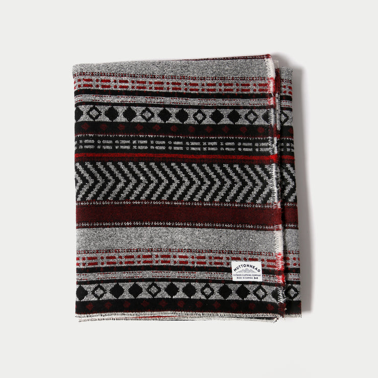 Saddle Blanket - Red & Grey