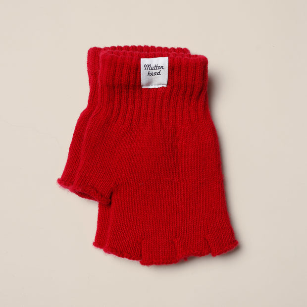Fingerless Gloves - Red