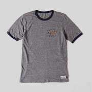 Get Lost Ringer Tee - Heather Grey