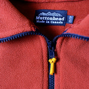 Field Zip  - Rust Recycled Fleece