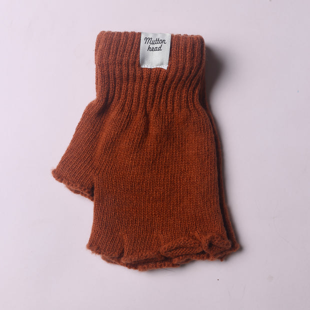 Fingerless Gloves - Rust