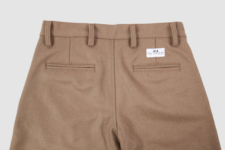 Wool Trousers - Camel