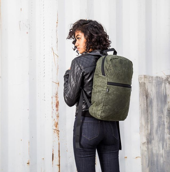 YNOT - Deploy Waxed Backpack - Olive Waxed Canvas