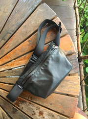YNOT Hip Pack - Black Army Duck/ Leather