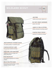 YNOT - Wild Scout Backpack - Joe Robinet Edition - Army Green
