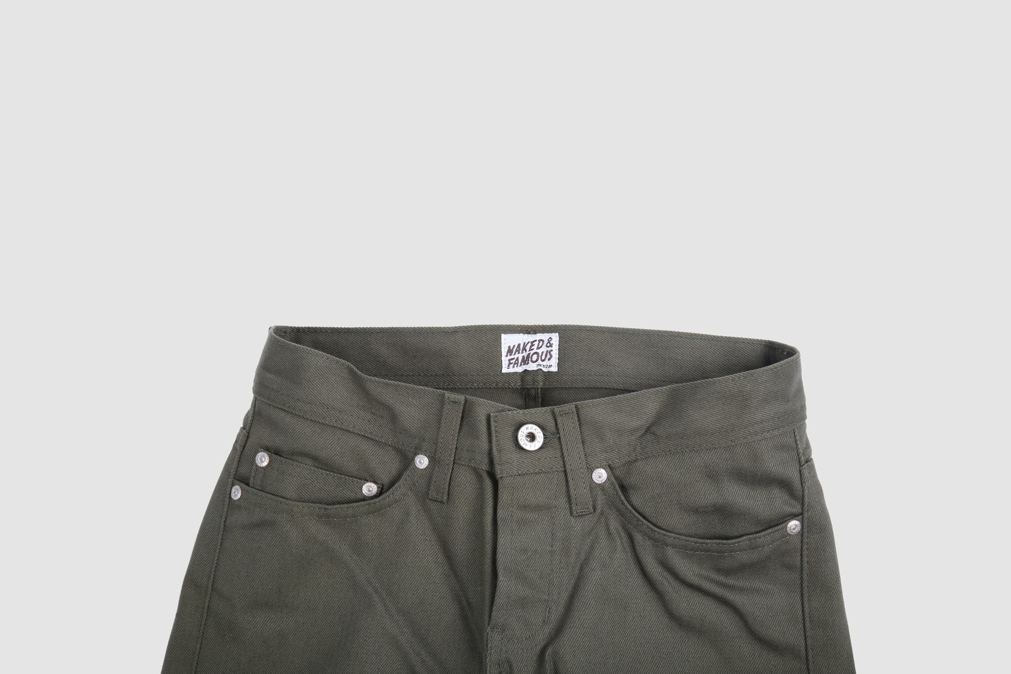 017583 Weird Guy - Selvedge Chino - Army Green