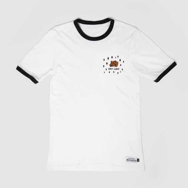 Get Lost Ringer Tee - White