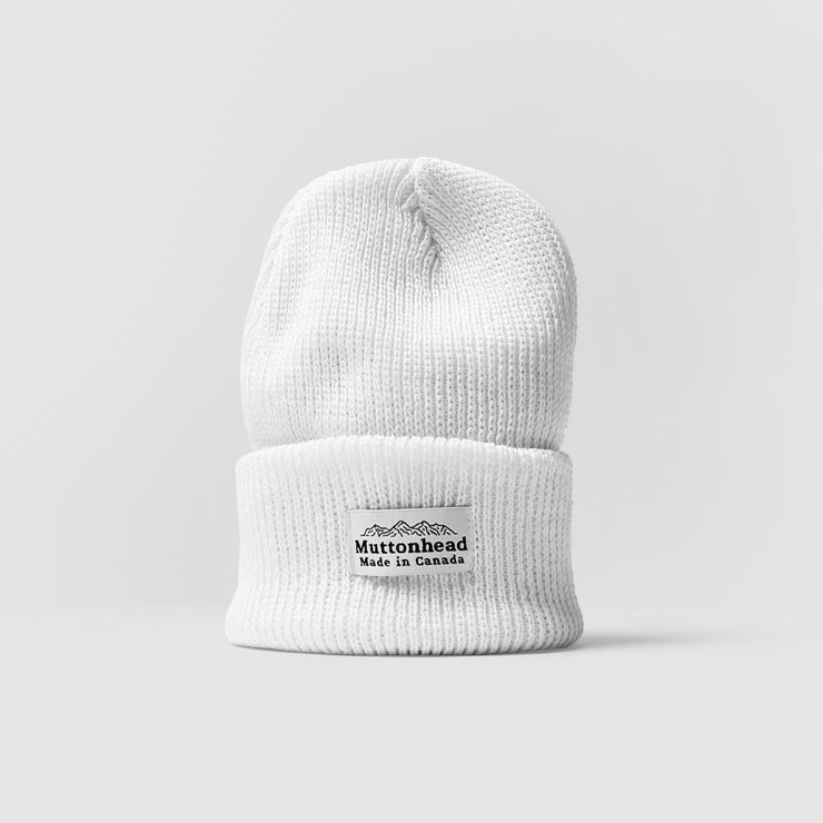 Cotton Knit Toque - White