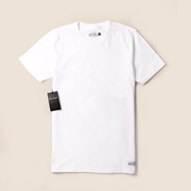 Ring Spun Cotton Tee - White