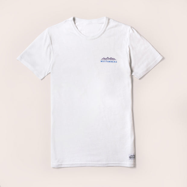 Recycled Tee - Mountain - White