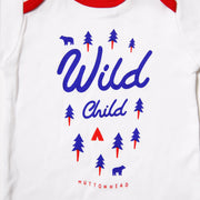 Wild Child Onesie - White/Red