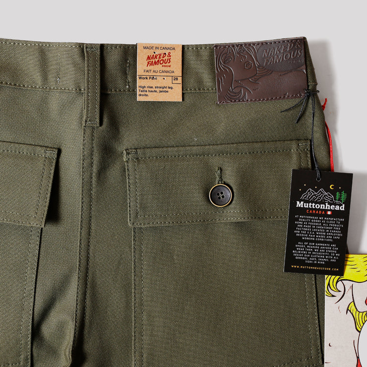 Work Pant - Green Canvas