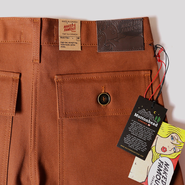 Work Pant - Brick Canvas