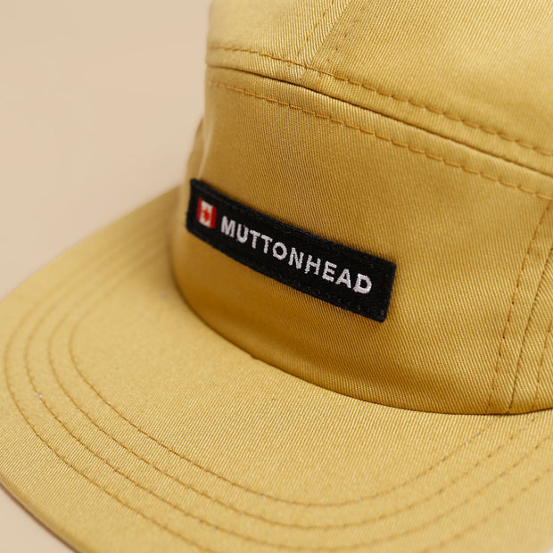 5 Panel - Canada Patch - Mustard Organic Cotton