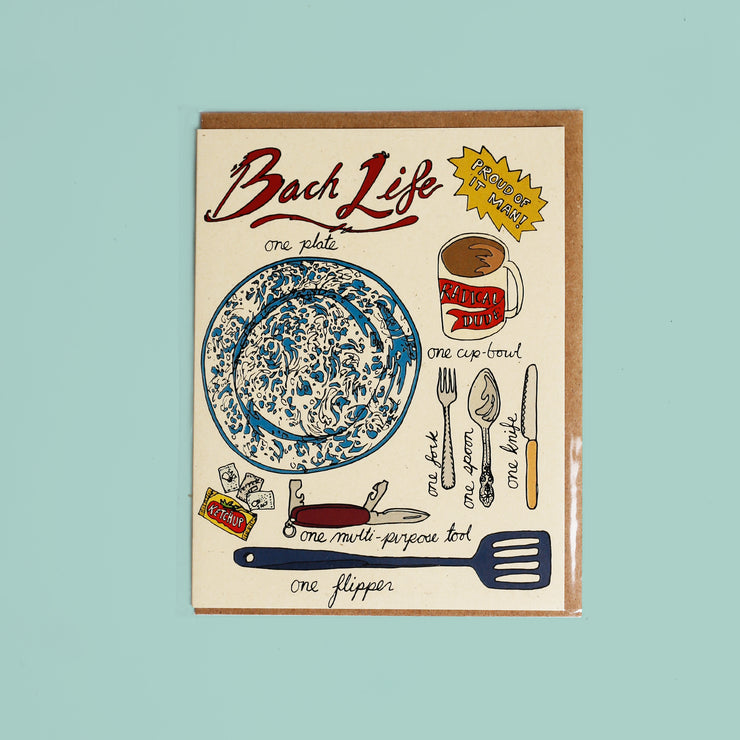 Bach Life Card - Wild Life Illustration and Card Co.