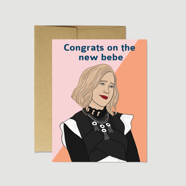"Schitt's Creek ""New Bebe"" Card - Party Mountain Paper Co."