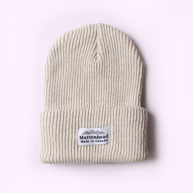 Cotton Knit Toque - Oatmeal