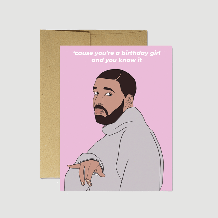 Drake Birthday Girl Card - Party Mountain Paper Co.