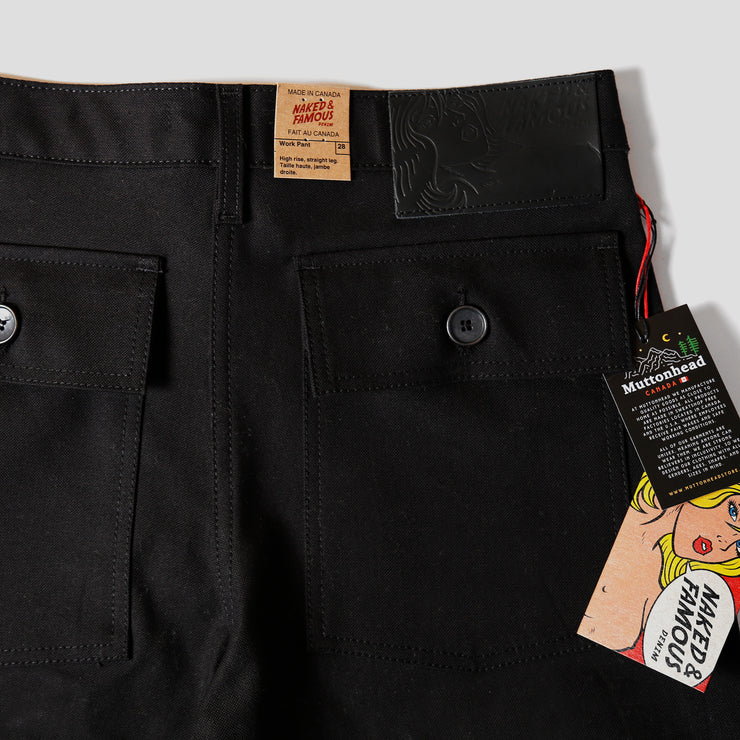 Work Pant - Black Canvas