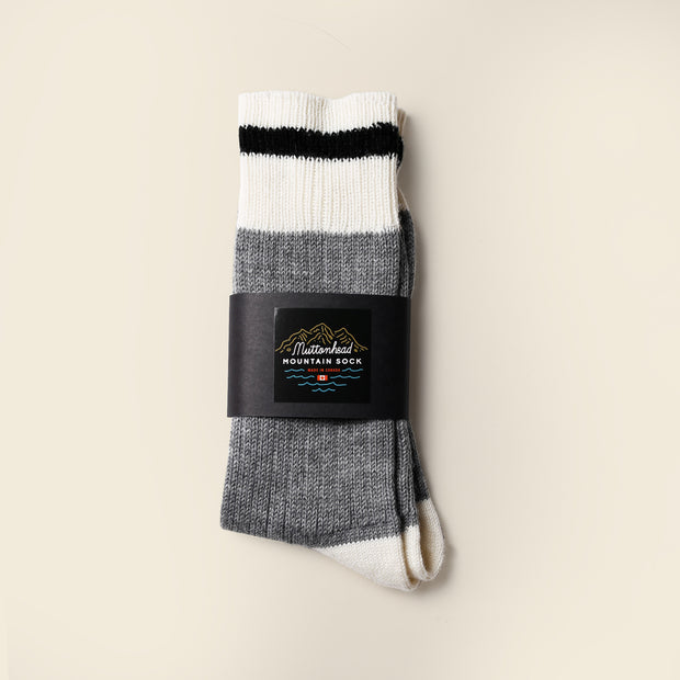 Mountain Socks - Black Stripe