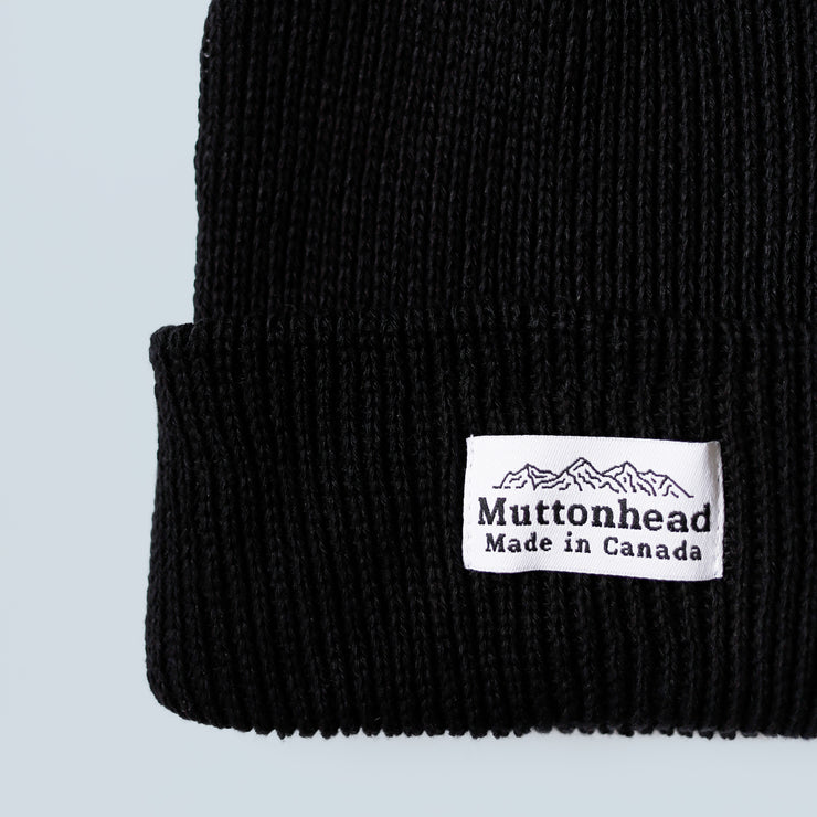 Cotton Knit Toque - Black