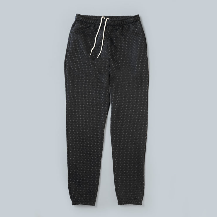 Sweatpants - Cross Stitch Quilt Black