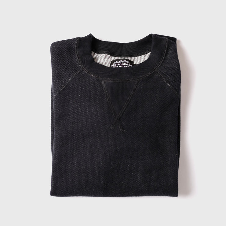 Light Weight Air Mesh Crew - Black