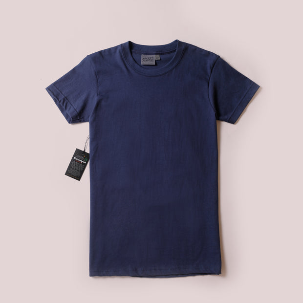T-Shirt - Navy Circular Knit
