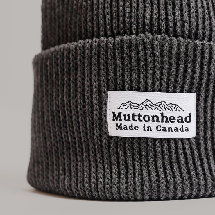 Cotton Knit Toque - Charcoal